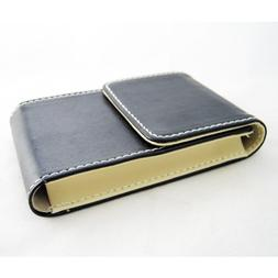 New Black Leather Business Card Holder ID Credit Case Wallet