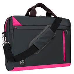 "Black Pink Crossbody Mesenger Bag for Acer 15.6"" 15.4"" 14"" L"