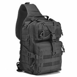 Black Tactical Sling Range Bag Military Backpack Pack Rover