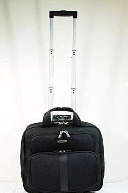RENWICK Black Wheeled Rolling Laptop Bag Business Briefcase