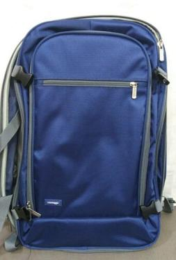 AmazonBasics blue grey Slim Carry On Laptop Travel Overnight