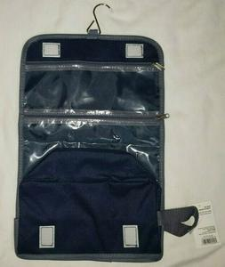 Blue Hanging Roll Up Toiletry Bag Organizer Separate Pouches