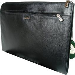 Visconti BOND - Black Leather Under Arm Folio, Portfolio Fil