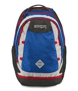 """JanSport Boost Backpack - Blue Streak/High Risk Red / 23.1""""H"""