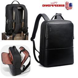 Bopai Men Leather Backpack Laptop Bag Business Shoulder Ruck