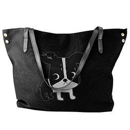Boston Terrier Women Stylish Tote Shoulder Bag Dumpling Hand