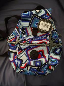 Kipling BP3559 * MULTI SQUARES * Child Print Small Backpack