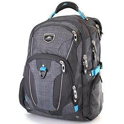 High Sierra Business Elite Backpack Black Fits 17'' Laptop w