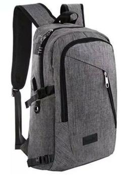 Mancro Business Water Resistant Polyester Laptop Backpack wi