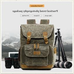 Camera Backpack Vintage Waterproof Photography Canvas Bag fo