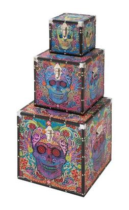 Plutus Brands Canvas Box with Chic Contemporary Style, Set o