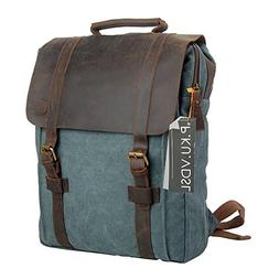 "Canvas Backpack, P.KU.VDSL 15"" Laptop Backpack Vintage Canva"