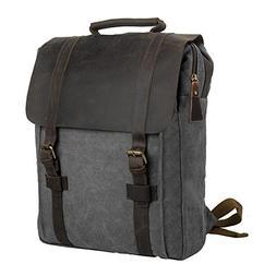 """Canvas Backpack, P.KU.VDSL 15"""" Laptop Backpack Vintage Canva"""