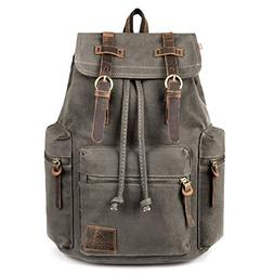 Canvas Backpack P.KU.VDSL Augur Knapsack Rucksack Hiking Mou
