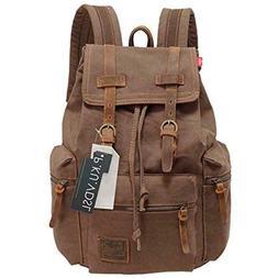 Canvas Backpack, P.KU.VDSL-AUGUR SERIES Knapsack Rucksack Hi