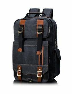 Leaper Canvas Backpack for Men Unisex Laptop Bag Travel Bag