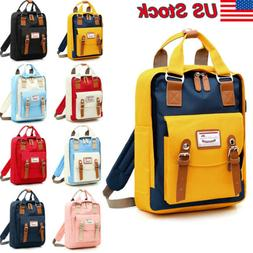 Canvas Backpack Mens Women School Travel Rucksack Laptop Sat