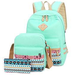 School Backpack for Girls Canvas Backpack Laptop Bookbag Sho