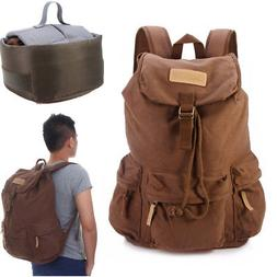Canvas Coffee DSLR Camera Backpack With Removable Inner Bag