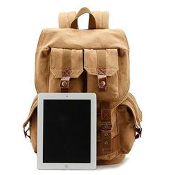 DRF Canvas DSLR SLR Camera Case Backpack Hiking Travel Bag F