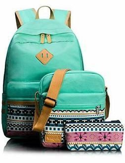 Leaper Canvas Laptop Bag School Backpack Shoulder Bag )