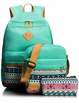 Leaper Canvas Laptop Bag School Backpack Shoulder Bag Purse