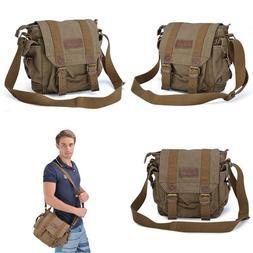 Gootium Canvas Messenger Bag   Small Vintage Shoulder Bag Cr