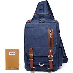 Men Messenger Bag Kaukko Canvas Sling Backpack Cross Body Sh
