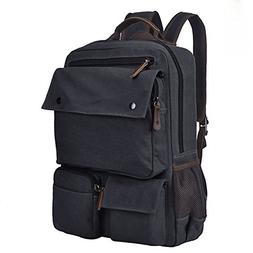 Canvas Rucksack 15.6 Inch Laptop Backpack Casual Daypack Boo