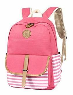 Leaper Canvas School Backpack for Girls Laptop Bag Shoulder
