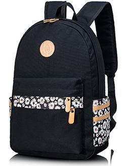 Leaper Canvas School Backpack for Girls Travel Bag Bookbag S