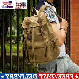 Canvas Travel Sport Camping School Satchel Laptop Hiking Bag