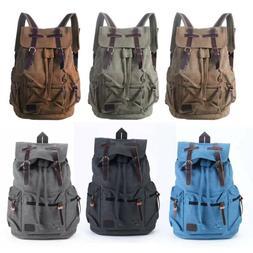 canvas travel sport camping school satchel laptop