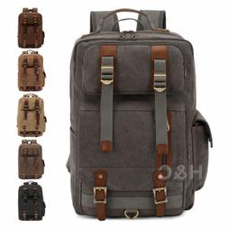Canvas Travel Tactical Daypack Laptop Backpack Trekking Hiki