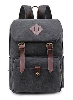 Weekend Shopper Canvas Vintage Backpack School Backpacks for