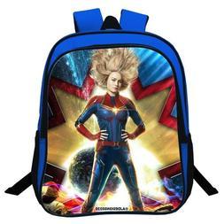 Captain Marvel Print Knapsack Kids Students Schoolbag Travel