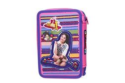 Case school SOY LUNA pink triple 3 zip complete with accesso