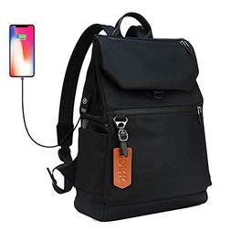 Casual Backpack Lightweight Water Resistant Bookbag Nylon Bl