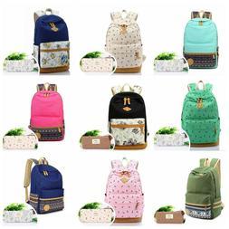 Casual Canvas Laptop Backpack Shoulder Bag Travel School Bag