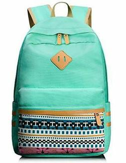 Leaper Casual Canvas Laptop Bag Cute School Backpack )