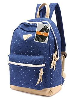 ee06a297597c Leaper Casual Style Lightweight Canvas Laptop Backpack Cute
