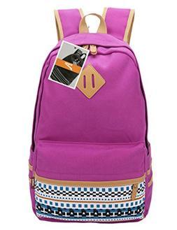 Leaper Casual Lightweight Canvas Laptop Bag Cute School Back