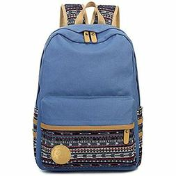Leaper Casual Lightweight Canvas Laptop Bag Cute Backpack Sh