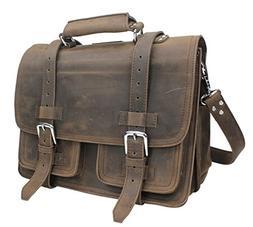 "Vagabond Traveler 16"" CEO Heavy Duty Full Grain Leather Larg"
