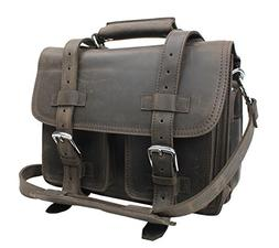"Vagabond Traveler 14"" CEO Heavy Duty Full Grain Leather Larg"