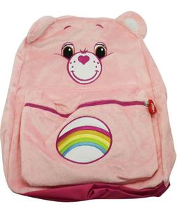 Full Size Pink Cheer Bear Care Bears Plush Material Backpack