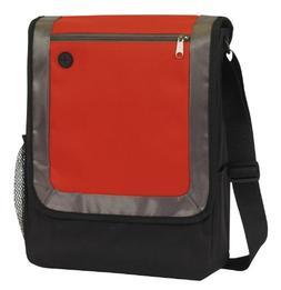 City Messenger Bag Portfolio Book Bag , Red by BAGS FOR LESS