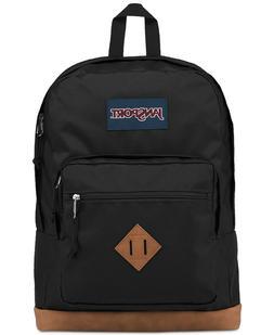 JANSPORT CITY SCOUT BACKPACK BLACK FOR UNISEX W/ Laptop Slee