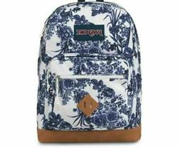 JanSport City View Laptop Backpack - White Artist Rose, NWT,