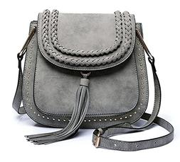 Classic Women Shoulder Bag Luxury Brands Knitting Suede Leat